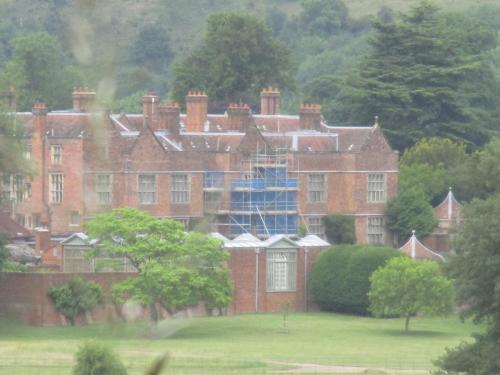Kept at a distance: Harry on the outside near Chequers, the Prime Minister's country retreat