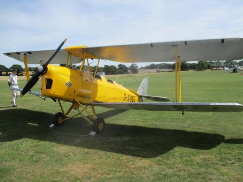 Harry's a hobby pilot – and the Tiger Moth helps him chase down the spies